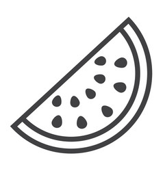 watermelon line icon fruit and diet vector image