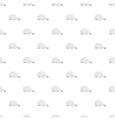 white baseball cap pattern seamless vector image