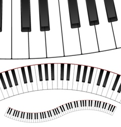 Curved Piano Keyboard vector image