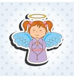 cute angel design vector image vector image