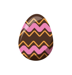 easter decorative egg ornament element design vector image