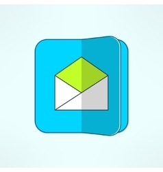 internet mail icon in modern flat design vector image vector image