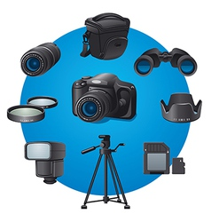 photo devices vector image vector image