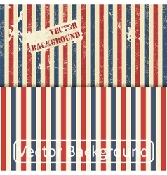 Vintage design template with stripes vector image vector image