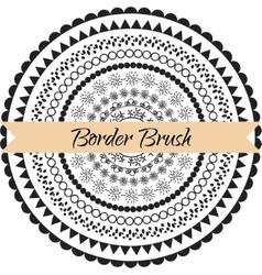 Border pattern brush set frame kit vector