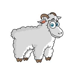 Cartoon farm sheep character vector image vector image