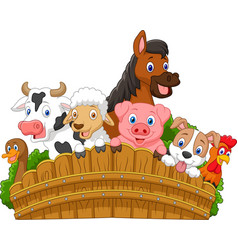 Collection farm animals vector image vector image