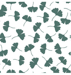 ginkgo leaves seamless pattern herbs background vector image vector image