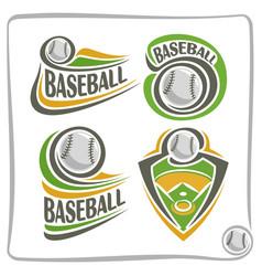 Logo baseball ball vector
