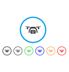 photo drone rounded icon vector image vector image