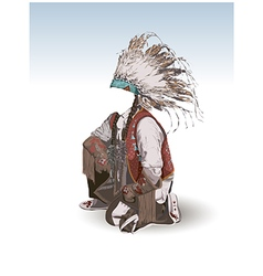 Clothing of the American Indian vector image