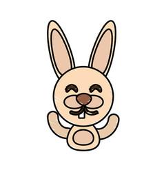 draw rabbit animal comic vector image vector image