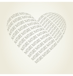Nature heart vector image