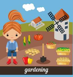 sweet girl agronomist vector image vector image