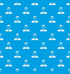 teacher pattern seamless blue vector image vector image