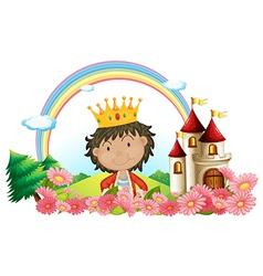 Cartoon Castle King vector image