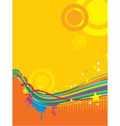 grunge sunny template background vector image vector image