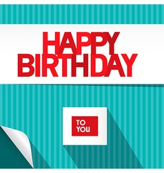 Happy Birthday Blue and Red Background vector image