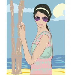 summer pretty girl vector image