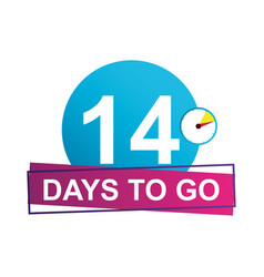 14 days to go sale countdown badge vector