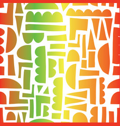Abstract shapes reggae colors seamless vector