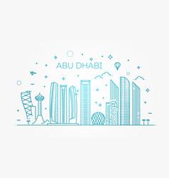 abu dhabi city line art with vector image
