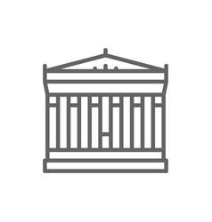 Acropolis athens greece landmark line icon vector