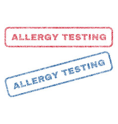 Allergy testing textile stamps vector