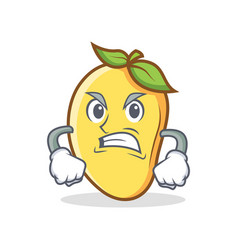 Angry mango character cartoon mascot vector