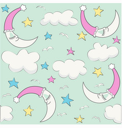 baby cloud pattern seamless baby shower vector image