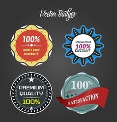 badges design vector image
