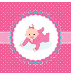 bagirl arrival announcement card vector image