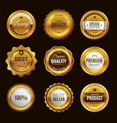 best certification golden sign gold design vector image