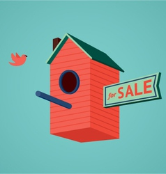 Birds house for sale vector