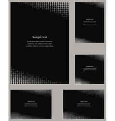 Black page corner design template set vector