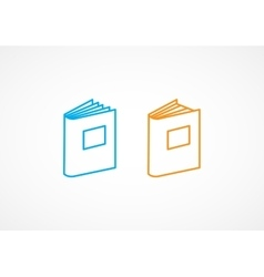 Book Line Icons vector