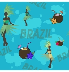 Brazil symbols pattern vector
