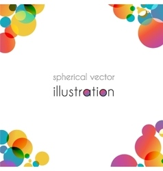 Brochure with color angles vector image
