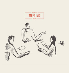 business meeting brainstorming team a work vector image