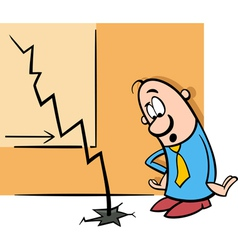 Businessman and economic crisis cartoon vector