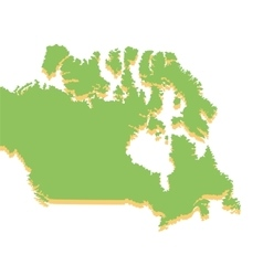 canada map silhouette icon vector image