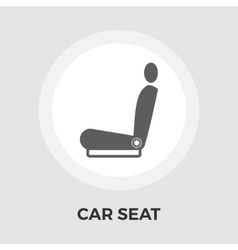Car seat flat icon vector