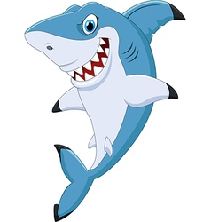 Cartoon funny shark posing vector
