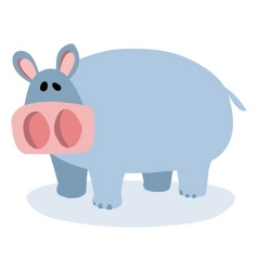 cartoon hippopotamus vector image