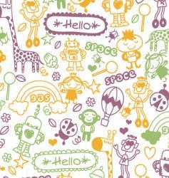 child doodle illustration vector image