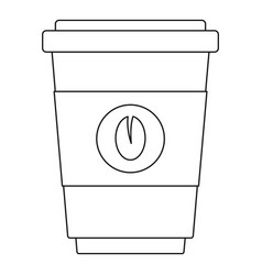 coffee icon outline style vector image