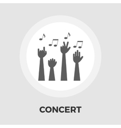 Concert flat icon vector image