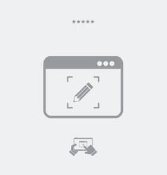 Customized digital service icon vector