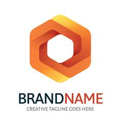 dynamic hexagon logo vector image