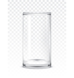 empty glass cup vector image